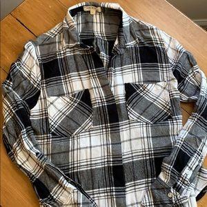 Anthro Cloth & Stone Plaid Button Down